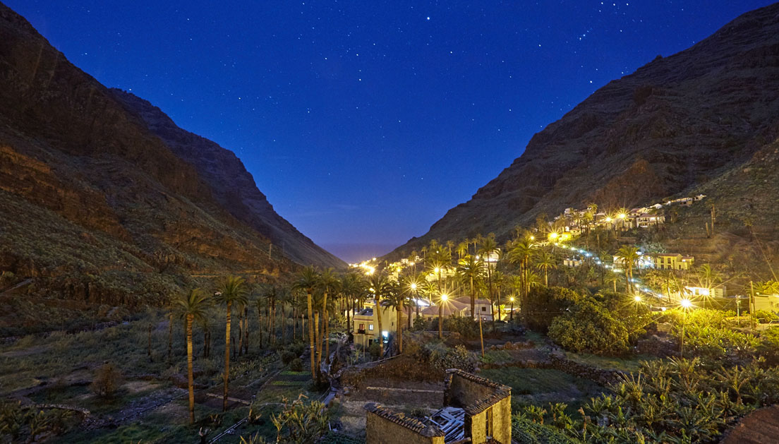 Valle Gran Rey at Night