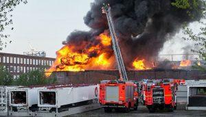 Feuer Lagerhaus Veddel