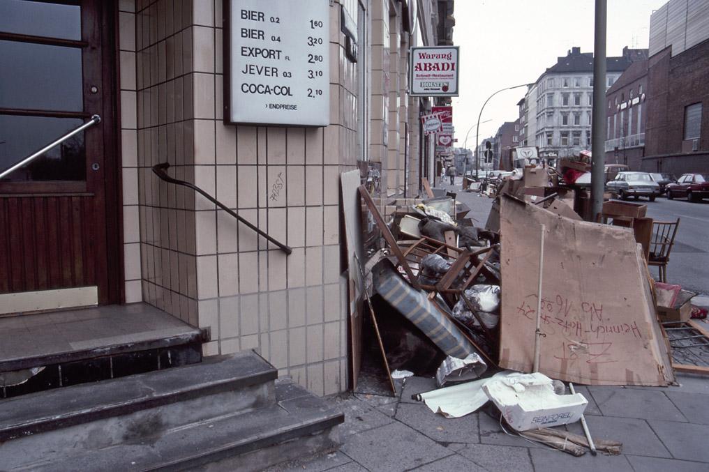 SperrmŸüll in der Davidstrasse, St. Pauli - 1987